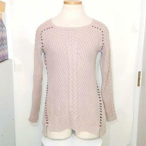 Philosophy   Blush Ribbed Sweater
